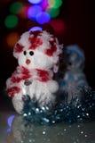 Muñeca iluminada del muñeco de nieve Imagenes de archivo