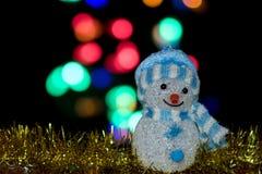 Muñeca iluminada del muñeco de nieve Imagen de archivo libre de regalías
