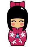 Muñeca japonesa stock de ilustración