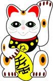 Muñeca japonesa del gato del vector Foto de archivo