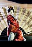 Muñeca japonesa del geisha Fotografía de archivo libre de regalías