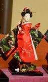 Muñeca japonesa del geisha Fotos de archivo libres de regalías
