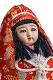 Muñeca japonesa del recuerdo, mujer en el traje nacional, grande Imágenes de archivo libres de regalías