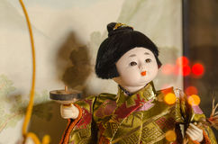 Muñeca japonesa, ningyoo de Hakata Imagen de archivo