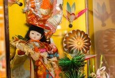 Muñeca japonesa, ningyoo de Hakata Fotografía de archivo libre de regalías