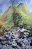 Muñeca judía en temas bíblicos stock de ilustración