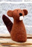 Muñeca linda del groundhog de las lanas Foto de archivo
