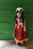 Muñeca mexicana del paño de la muchacha del vintage Fotos de archivo
