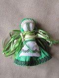 Muñeca popular hecha a mano ucraniana Fotografía de archivo