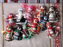 Muñeca popular hecha a mano ucraniana Imagenes de archivo