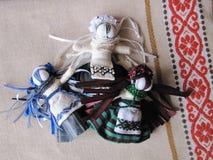 Muñeca popular hecha a mano ucraniana Imágenes de archivo libres de regalías