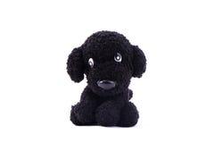 Muñeca que hace punto del perro negro Fotografía de archivo libre de regalías