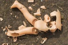 Muñeca quebrada Fotografía de archivo libre de regalías