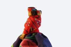 Muñeca rústica del recuerdo de Suramérica Imagen de archivo libre de regalías