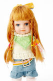 Muñeca rubia en blanco Imágenes de archivo libres de regalías