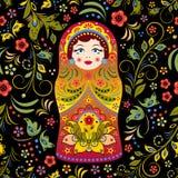 Muñeca rusa stock de ilustración