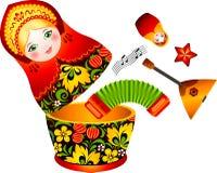 Muñeca rusa del matryoshka de la tradición Imagen de archivo libre de regalías