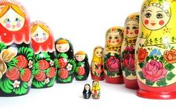 Muñeca rusa en el blanco foto de archivo libre de regalías