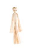 Muñeca simple hecha de yute. Juguete de los primeros colonos en Ame Fotos de archivo