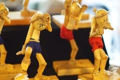 Muñeca tailandesa del boxeo hecha a mano Imagenes de archivo