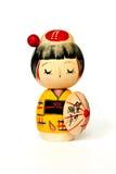 Muñeca tradicional japonesa aislada Foto de archivo libre de regalías