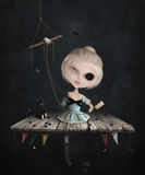 Muñeca triste ilustración del vector