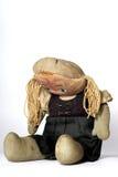 Muñeca triste vieja #2 del paño Imagen de archivo