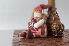 Muñeca y artículos hechos a mano fotos de archivo libres de regalías