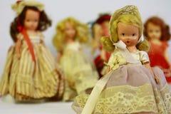 Muñecas antiguas Foto de archivo libre de regalías