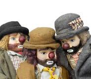 Muñecas antiguas del hobo aisladas Foto de archivo libre de regalías