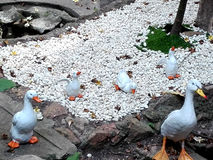 Muñecas blancas hermosas de la arcilla del pato Imágenes de archivo libres de regalías