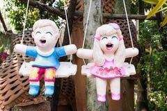 Muñecas cocidas de la arcilla Fotografía de archivo libre de regalías