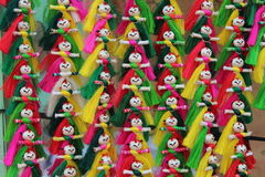 Muñecas coloridas Fotografía de archivo