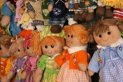 Muñecas coloridas Imágenes de archivo libres de regalías