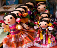 Muñecas coloridas México de Lupita Foto de archivo