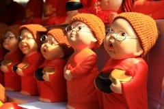 Muñecas de cerámica. stock de ilustración