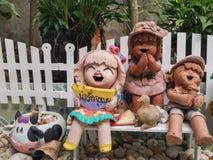 Muñecas de cerámica Imagen de archivo libre de regalías