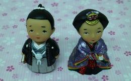 Muñecas de Kokeshi Fotos de archivo libres de regalías