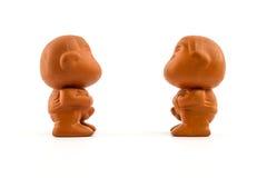 Muñecas de la arcilla. Foto de archivo libre de regalías
