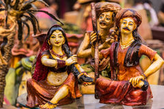 Muñecas de la arcilla para la venta Imágenes de archivo libres de regalías
