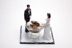 Muñecas de la boda imágenes de archivo libres de regalías
