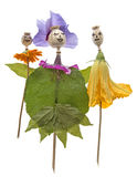 Muñecas de la cabeza y de las flores de la amapola Fotografía de archivo