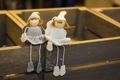 Muñecas de la Navidad imagenes de archivo