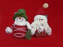 Muñecas de la Navidad Imágenes de archivo libres de regalías