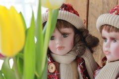 Muñecas de la porcelana Imágenes de archivo libres de regalías