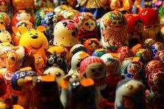 Muñecas de madera rusas Imagen de archivo libre de regalías