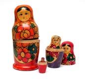 Muñecas de madera rusas fijadas - Fotografía de archivo libre de regalías