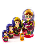 Muñecas de Matryoshka Fotos de archivo libres de regalías