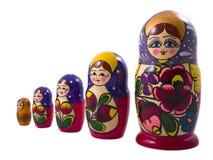 Muñecas de Matryoshka Imagen de archivo libre de regalías