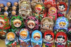 Muñecas de Matryoshka Foto de archivo libre de regalías